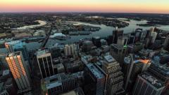 Timelapse of Sunrise Over Sydney and Darling Harbour in 4k - stock footage