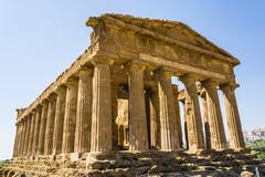 Concordia Temple. Valley of the Temples, Agrigento on Sicily, Italy - stock photo