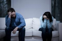 Difficulties in relationship - stock photo