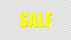 Sale with Glint or light sheen - stock footage