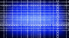 Traveling Through Layers of Computer Digits Stock Footage