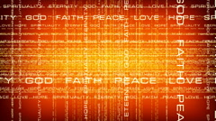 Traveling Through Layers of Faith Words Stock Footage