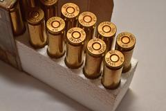 Ammunition in the box (.308 caliber) Stock Photos
