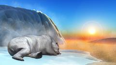 Polar bear - 3D render Stock Illustration