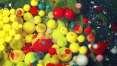 Colorful Bubbles In Water. Stock Footage