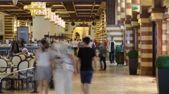 The Gold Souq in Mall timelapse Stock Footage