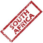New South Africa rubber stamp - stock illustration