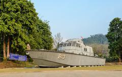 Tsunami Police Boat 813 (Buretpadungkit) Stock Photos