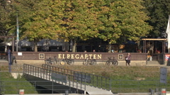 Elbegarten Dresden Germany Stock Footage