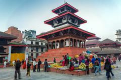 Durbar square in Kathmandu - stock photo