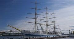 "Beautiful Russian Sailing Ship ""MIR"" Stock Footage"