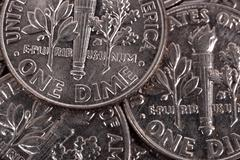 one dime coins - stock photo