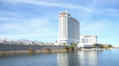 Laughlin NV Casino Hotels Riverview Stock Footage