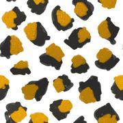 Leopard print pattern - stock illustration