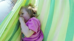 Baby in hammock Stock Footage