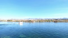 Blue Water Taxi Boat Bullhead City Laughlin Stock Footage
