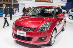 All new Suzuki Swift 2015 on display Stock Photos