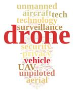 Stock Illustration of Drone, unmanned aerial vehicle .