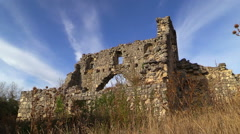 Archaeological site. The ancient city of Mangup Kale. Crimea. Stock Footage