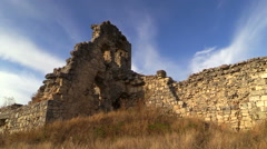 The ancient walls of the city Mangup-Kale. Crimea. Stock Footage