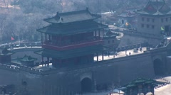 Great Wall of China Entrance Stock Footage