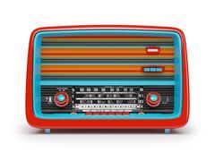 Vintage radio - stock illustration