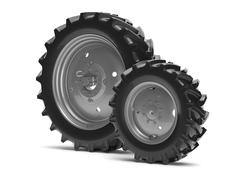 Tractor wheels - stock illustration