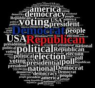 Democrat and Republic. Stock Illustration
