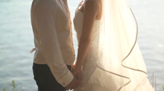Bride And Groom Exchanging Vows Stock Footage