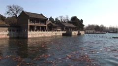 China Temple of Heaven Lake in Beijing Stock Footage