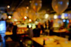 Blurred background of an underground pub or restaurant Stock Photos