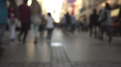 Stock Video Footage of Anonymous crowded people walking on the street.
