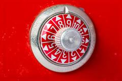 Safe dial in red with numbers Stock Photos
