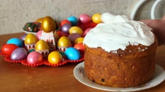 Easter cake Stock Footage