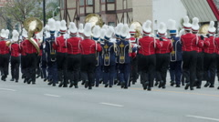 MARCHING BAND IN A PARADE Stock Footage