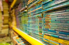 VENICE, ITALY - MAR 22, 2014: Old books of Acqua Alta bookstore. This is one  - stock photo