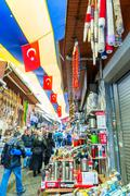ISTANBUL, SEP 22: People shopping in the Grand Bazar in Istanbul, Turkey, one Stock Photos