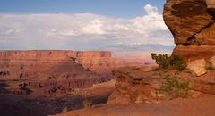 Majestic Vista View Geology Features Rock Formations Canyonlands - stock photo