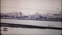 1972 - Havana harbor costline in the 1950's - vintage film home movie Stock Footage