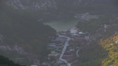 View on mountains from ruins of the ancient city Mangup-Kale. Crimea. Stock Footage