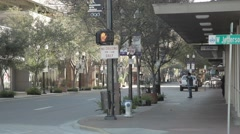 Downtown intersection, Downtown Orlando, Orange street Stock Footage