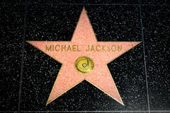 Michael Jackson Star on the Hollywood Walk of Fame - stock photo
