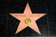 Stock Photo of Michael Jackson Star on the Hollywood Walk of Fame