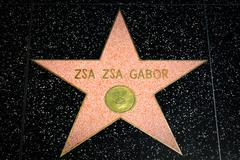 Zsa Zsa Gabor Star on the Hollywood Walk of Fame - stock photo