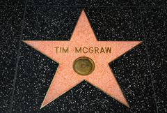 Tim McGraw Star on the Hollywood Walk of Fame Stock Photos