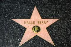 Hale Berry Star on the Hollywood Walk of Fame - stock photo