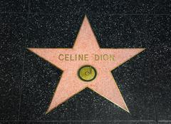 Celine Dion Star on the Hollywood Walk of Fame - stock photo