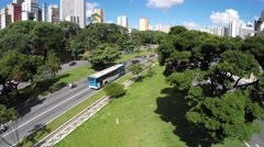 Aerial View of Avenue 23 de Maio in Sao Paulo, Brazil Stock Footage