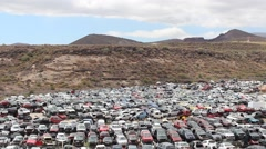 Scrapyard - wreck / old cars - automobiles Stock Footage