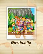 Family - stock illustration